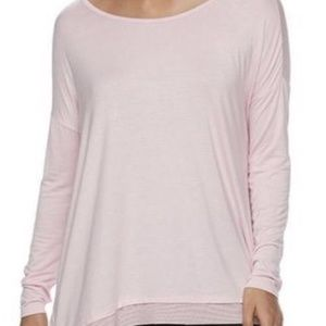 NWT GAIAM Pink Drop-Shoulder Yoga Top Tunic Shirt